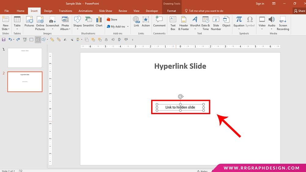 How to Access Hidden Slides Through Hyperlink