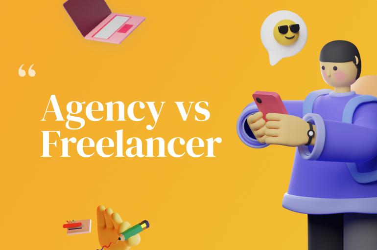 design agency and freelance designer