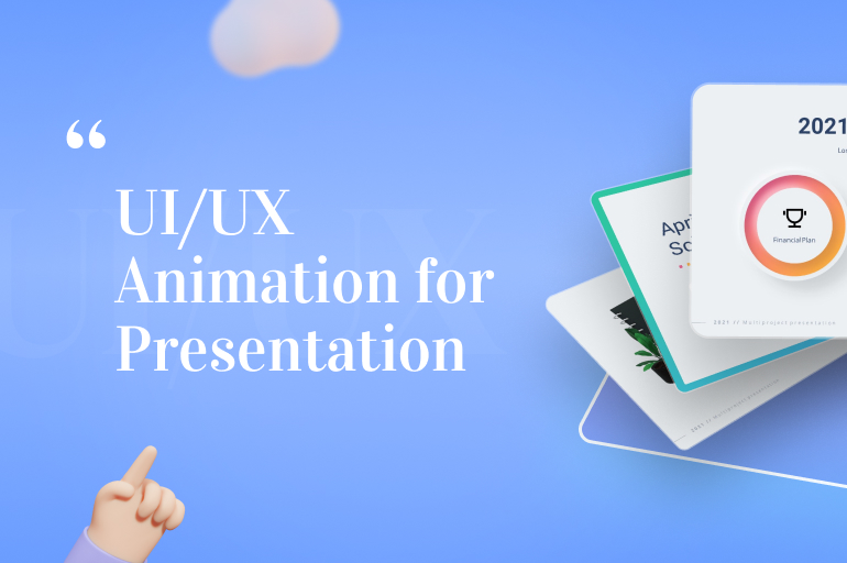 animated ui/ux concept in virtual presentations
