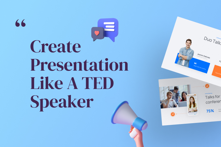 professional powerpoint like a ted speaker
