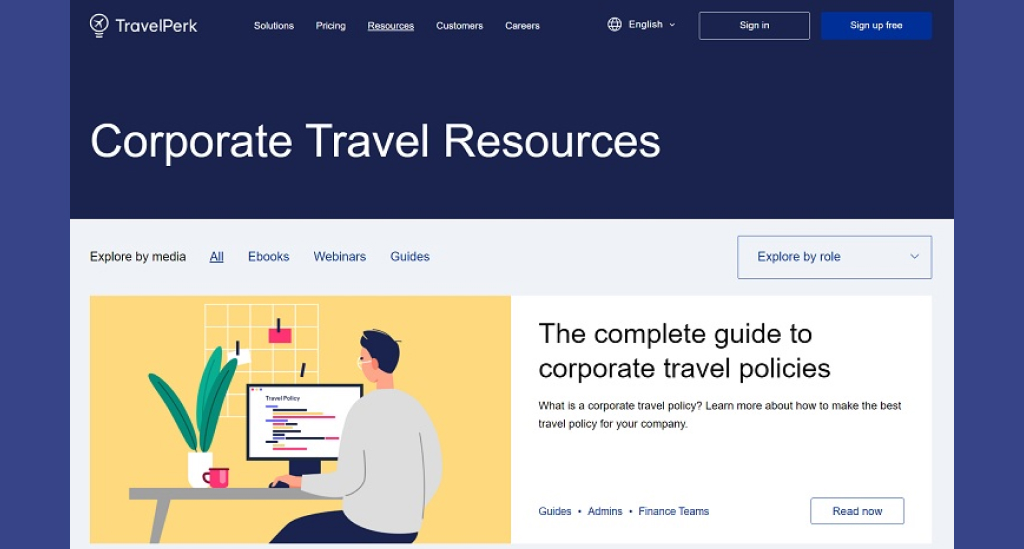 business sites should offer a resource page